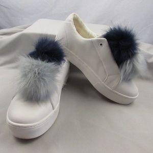 Sam Edelman Leya Fashion Sneakers Pom Poms Size 8M